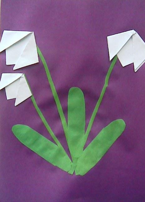 Оригами подснежники своими руками 97