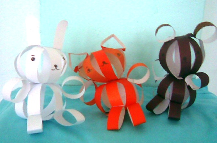 Заяц из полосок бумаги